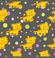 pattern with cute african tiger vector image vector image