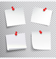 pinned paper set vector image vector image