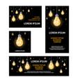 polygonal light bulbs banners set vector image vector image