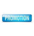 promotion blue square 3d realistic isolated web vector image vector image