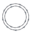 realistic 3d detailed barbed wire frames set vector image vector image