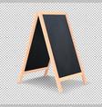 Realistic special menu announcement board icon vector image