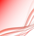 Red and white waves modern futuristic abstract vector image