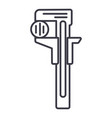 rulerwrenches line icon sign vector image vector image