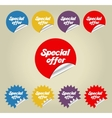 Sale sticker set vector image