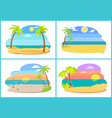 seaside and beach collection vector image vector image