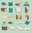 set books in flat design collection vector image vector image