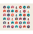 Set of Flat Design Professional People Avatar vector image