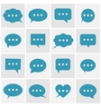 Speech bubble icons vector image