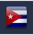Square icon with flag of Cuba vector image vector image