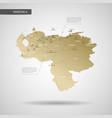stylized venezuela map vector image