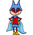 superhero boy cartoon vector image vector image