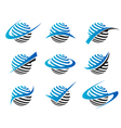 Swoosh Sphere Logo Icons vector image vector image