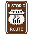 texas historic route 66 vector image vector image
