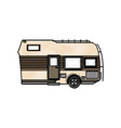 trailer camping transport recreation tourism vector image vector image