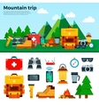Travel Concept Climbing Equipment Sport Items vector image