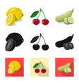 vegetable and fruit logo vector image vector image