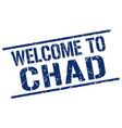 welcome to chad stamp vector image vector image