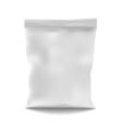 White Blank Foil Food Snack Sachet Bag vector image vector image