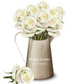 white roses vintage bouquet realistic vector image