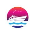 yacht ship vector image