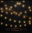 yellow christmas lights vector image vector image