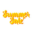 Yellow Summer Sale Lettering Isolated over White vector image vector image