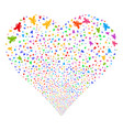 yen fireworks heart vector image vector image