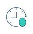 zero-hour contract rgb color icon vector image vector image