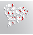 Abstract background with paper hearts vector image