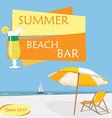 Summer beach bar vector image