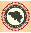 Vintage label-sticker cards of Belgium vector image