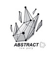 3d design abstract faceted shape technology and vector image vector image