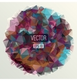 Abstract round triangles background for design vector image