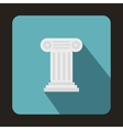 Ancient Ionic pillar icon flat style vector image vector image