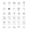 artificial intelligence set in monochrome vector image