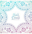 beautiful floral paisley decoration with shubh vector image vector image