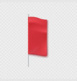 blank red textile vertical advertising banner vector image vector image