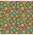 Bright abstract seamless pattern with flowers vector image vector image