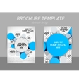 brochure with 3d circles vector image vector image