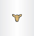 brown cow head icon vector image vector image