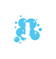 bubble with initial letter j graphic design vector image vector image