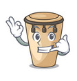 call me conga mascot cartoon style vector image