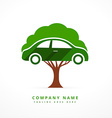 car and tree business symbol concept design vector image vector image