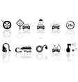 car wash isolated objects set vector image