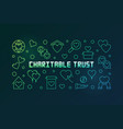 charitable trust colored line horizontal vector image vector image