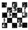 chess black white graphics print game print man vector image vector image