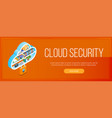 cloud security banner vector image vector image
