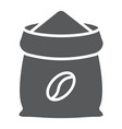 coffee sack glyph icon coffee and cafe coffee vector image vector image