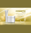 cosmetic bottle advertising shiny object vector image